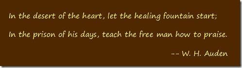 Desert quote W H Auden