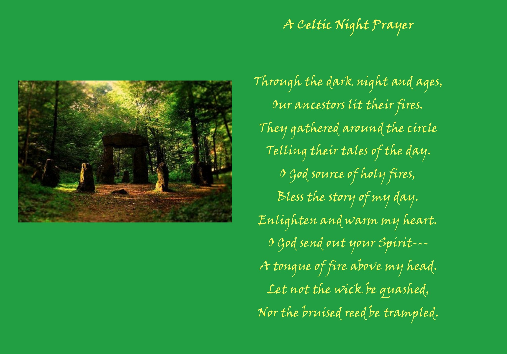 Celtic Night Prayer | A Pastor's Thoughts