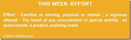 Effort Definition