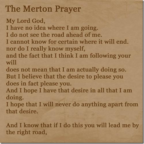 Merton Prayer